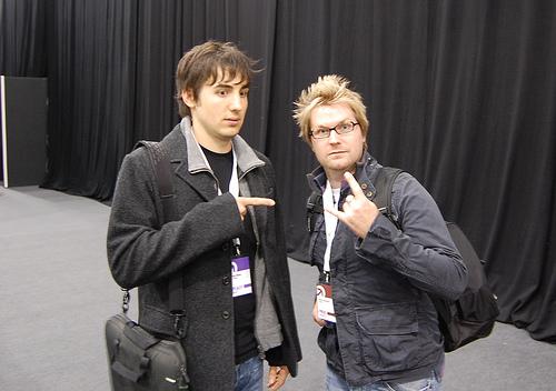 Kevin (links) und Alex von digg