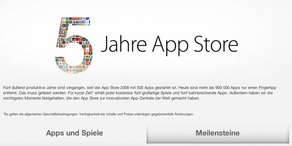 5 Jahre App Store von Apple
