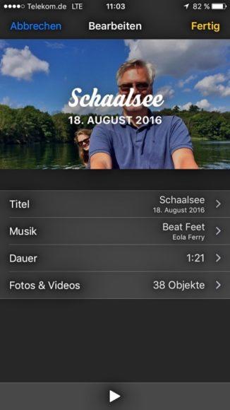 Fotos Andenken iOS 10