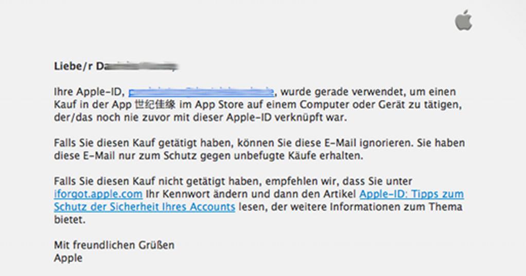 iTunes Konto geknackt