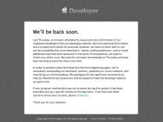 Gesperrter Entwicklerzugang (c) Apple
