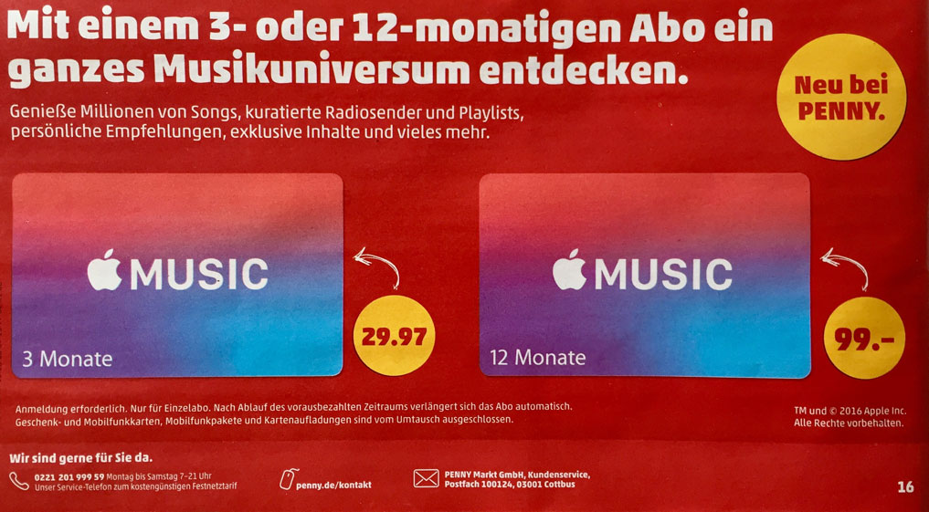 Apple Music Abo