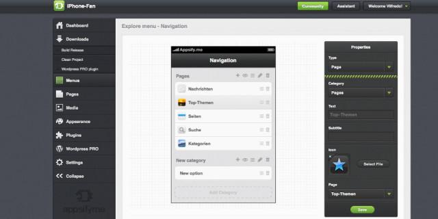 Die eigene App mit Appsifyme erstellen