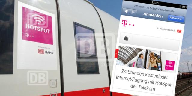 WLAN Hotspot Bahn ICE Telekom