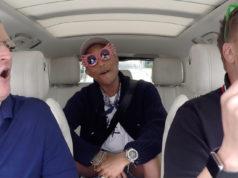 Tim Cook mit James Cordon beim Carpool Karaoke