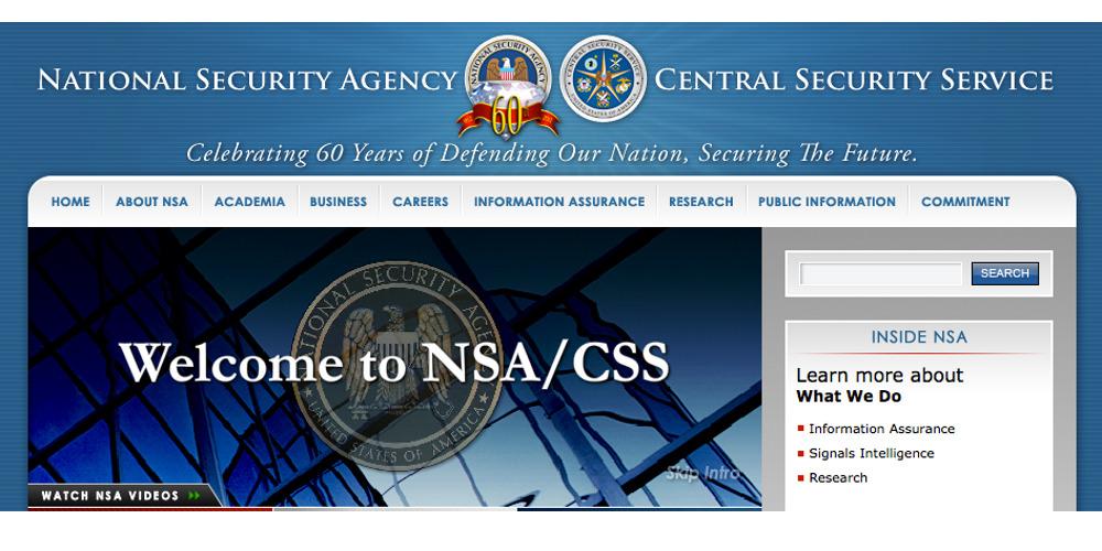 Homepage der NSA