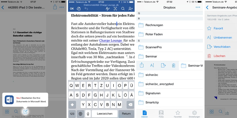 Dropbox Update bringt neue Funktionen und MS Office Integration