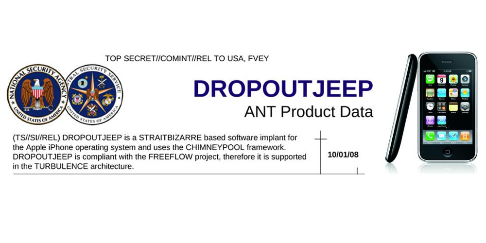 Dropoutjeep liest Daten vom iPhone aus