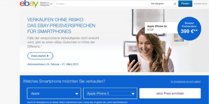Smartphone Verkauf eBay