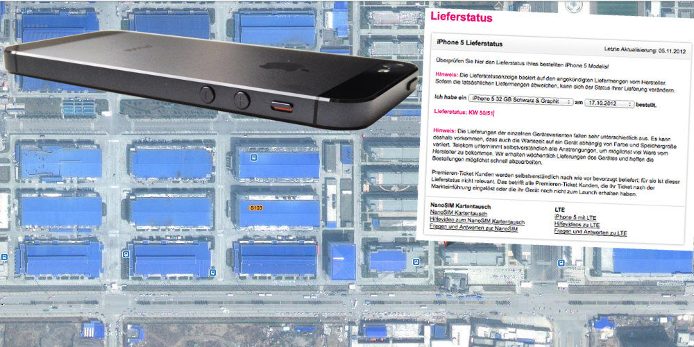 Foxconn Fertigung iPhone 5 Telekom