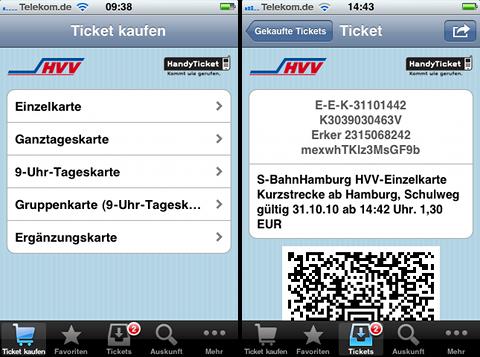 hvv app fahrkarte