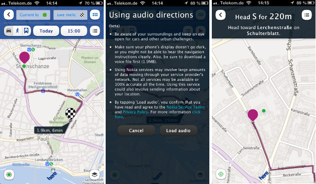 Routen Karten Maps Nokia Here