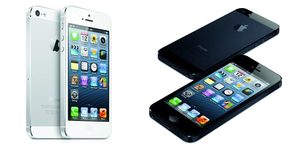 iPhone 5 von Apple in Weiß und Schwarz