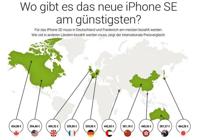 iPhone SE international billiger
