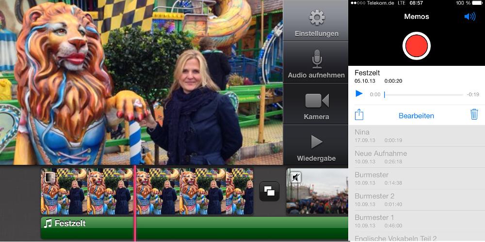 iMovie-Schnitt mit eigener Sprachaufnahme versehen