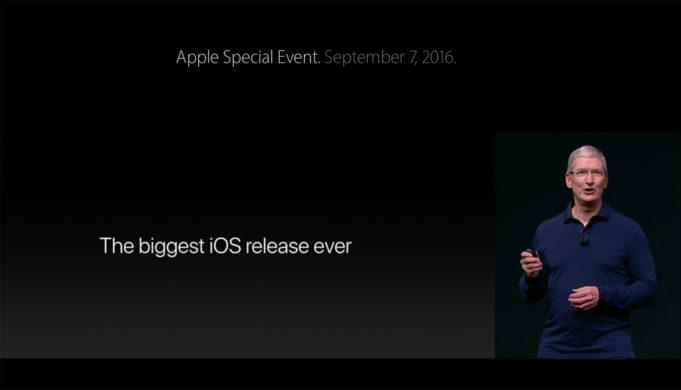 Tim Cook präsentiert iPhone 7 mit iOS 10