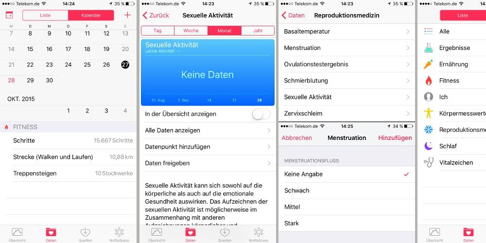 Health iOS 9 Reproduktionsmedizin