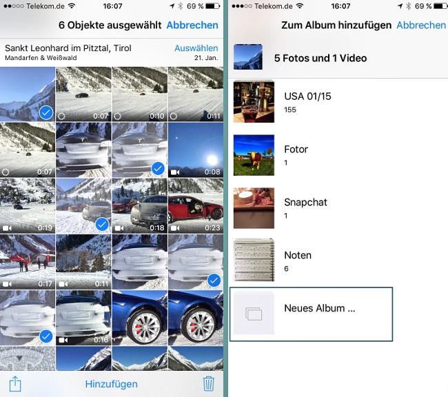 Foto Album iOS