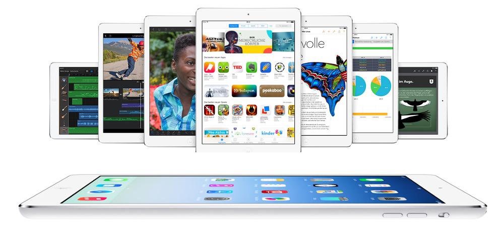 Ab November 2013 gibt es das iPad Air (c) Apple