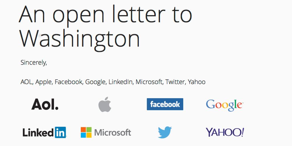 Brief an die Regierung der USA