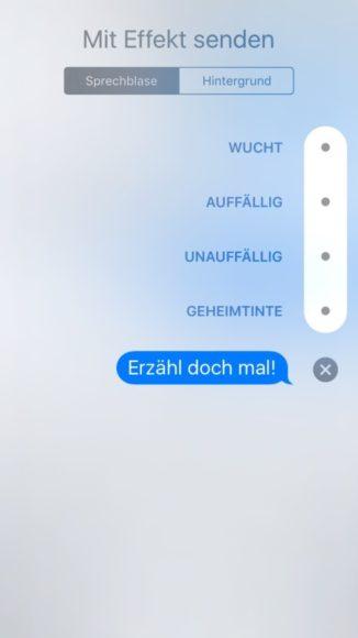 Effekte Nachrichten iOS 10