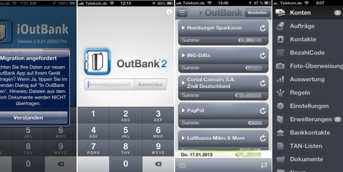 Online Banking mit OutBank
