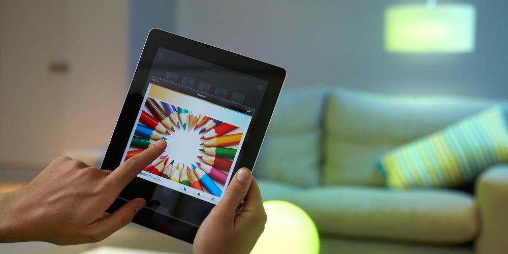 farbiger lichterglanz mit philips hue iphone. Black Bedroom Furniture Sets. Home Design Ideas