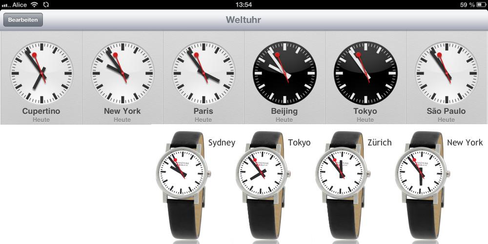 SBB Uhren Apple