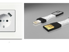 Steckdose mit USB-Anschluss, iPhone-Charger