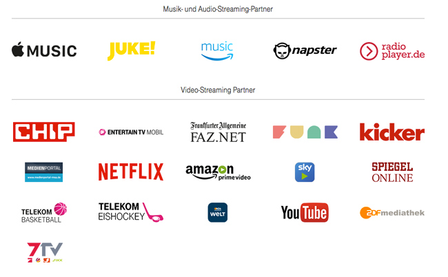 Streaming der Telekom Partner