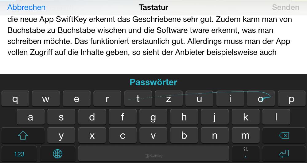 Tastatur iOS 8