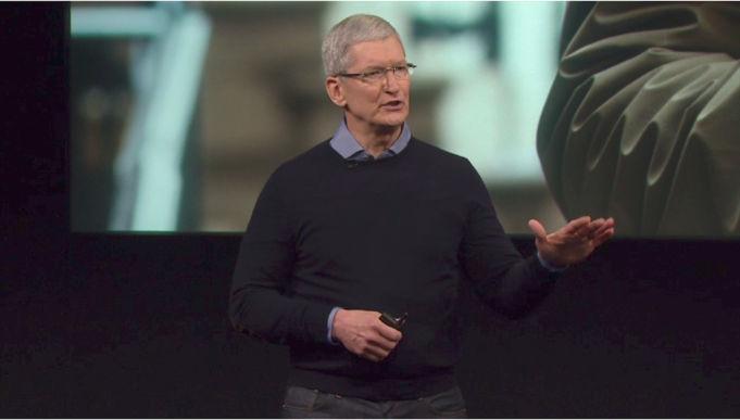 Tim Cook Produktpräsentation (c) Apple