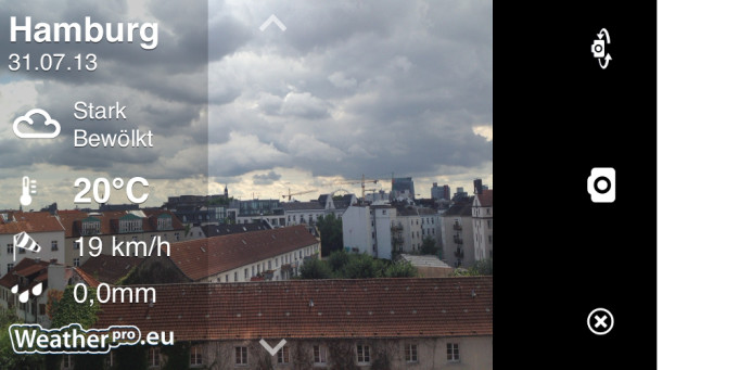 Andere mit WeatherPro wissen lassen, dass es in Hamburg bewölkt ist